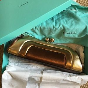 Tiffany&Co. Gold Leather Clutch